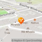 Kaart Sparerib Store Zwolle, Nederland