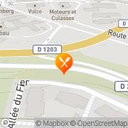 Carte de S.I.C.N. S.A. - Société Industrielle de Combustible Nucléaire Brogny, France