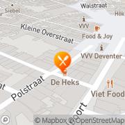 Kaart Mevrouw-Stoop Restaurant voor Fijnproevers Deventer, Nederland