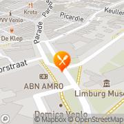 Kaart Gouvernement Grand-Café Het Venlo, Nederland