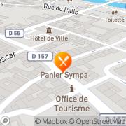 Carte de SOCIETE DE FABRICATION ET DE DISTRIBUTION DE PRODUITS ALIMEN Charmes, France
