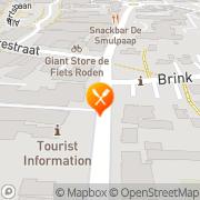 Kaart Pompstee Restaurant De Roden, Nederland