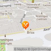 Kaart Grunneger Sproak de Theater/Restaurant Groningen, Nederland