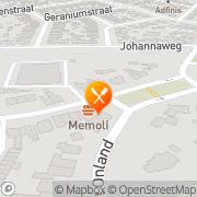 Kaart Afhaal- en Bezorgcentrum Memoli Hengelo, Nederland