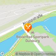 Karte Tribuenen-Restaurant Regattabahn Duisburg, Deutschland