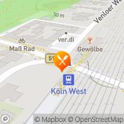 Karte Stadtgarten Köln, Deutschland