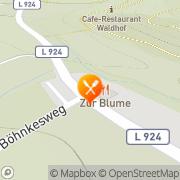 Karte Restaurant Zur Blume Hattingen, Deutschland