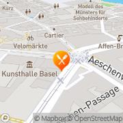 Karte Namamen Basel, Schweiz