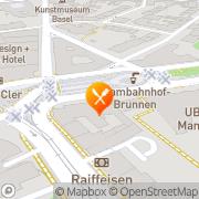 Karte Aeschenplatz Basel, Schweiz