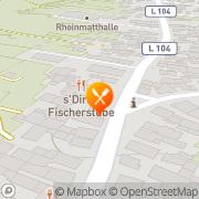 Karte Dirlis Fischerstube Rheinhausen, Deutschland