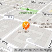 Karte Restaurant-Pizzeria Rheingold Mainz, Deutschland