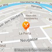 Karte Restaurant La Perla Weilburg, Deutschland