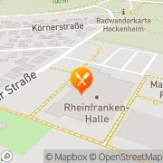 Karte Rheinfranken-Halle Altlußheim, Deutschland