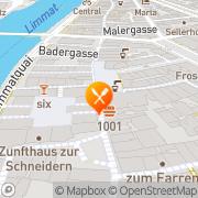 Karte Restaurant Cantina Zürich, Schweiz