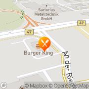 Karte Burger King Bensheim, Deutschland