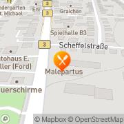 Map Restaurant Malepartus Bensheim, Germany