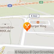 Karte Burger King Gelnhausen, Deutschland