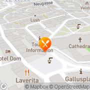 Karte Am Gallusplatz St. Gallen, Schweiz