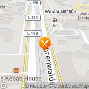Karte Burger King Hannover, Deutschland