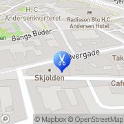 Kort City Barberen Odense, Danmark