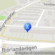 Karta Thomas Frisersalong Göteborg, Sverige