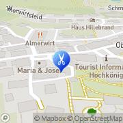 Karte Haarstudio GREGOR Maria Alm am Steinernen Meer, Österreich