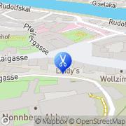 Karte Friseur am Kajetanerplatz Salzburg, Österreich