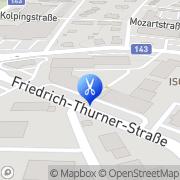 Karte Frisör Anita Berger Ried im Innkreis, Österreich