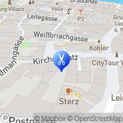 Karte Ihr dm Friseur Studio Villach, Österreich