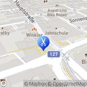 Karte Schnittzone Haarkunst by Peter Fuchs Linz, Österreich
