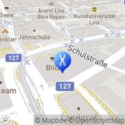 Karte Friseur Huemer Linz, Österreich