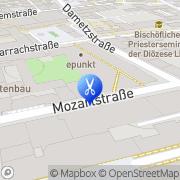 Karte KLIPP Frisör Linz, Österreich