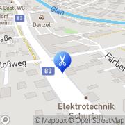 Karte Friseursalon Kamm & Schere Moser Alexandra Klagenfurt, Österreich