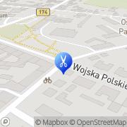 Mapa Styl Krzyż, Polska