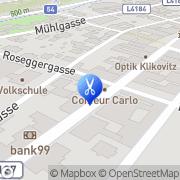 Karte Coiffeur Carlo Aspang Markt, Österreich