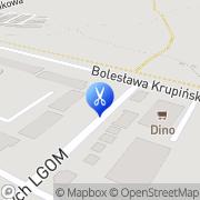 Mapa Fryzjerstwo Lubin, Polska