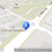 Mapa Fryzjerstwo Koszalin, Polska
