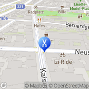Karte Coiffeur Irene Wien, Österreich