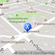 Karte Haarmonie Naturfrisör Wien, Österreich