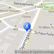 Karte mod's hair Wien, Österreich