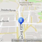 Mapa Fryzjerstwo Wronki, Polska