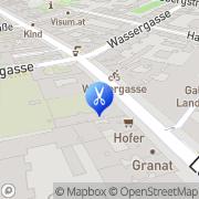 Karte Haarstudio 21 Cizek Wien, Österreich