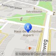 Karte Frisiersalon Andrea Wien, Österreich
