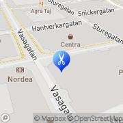 Karta Hårklippet Västerås, Sverige