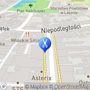 Mapa Piotrowska Danuta. Fryzjerstwo Leszno, Polska