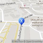 Mapa Fryzjerstwo Piła, Polska