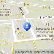 Mapa Fryzjerstwo Poznań, Polska