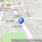 Mapa Fryzjerstwo Witkowo, Polska