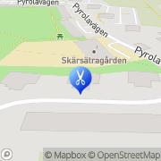 Karta Paul Bogensparr Hårstudio Lidingö, Sverige