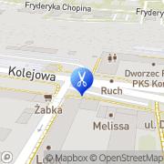 Mapa Fryzjerstwo Konin, Polska
